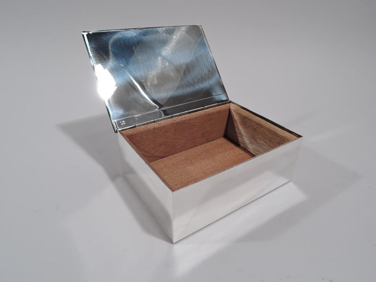 Tiffany Modern Sterling Silver Desk Box with World Map For Sale 1