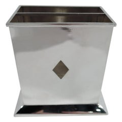 Tiffany Modern Sterling Silver Playing Cards Box