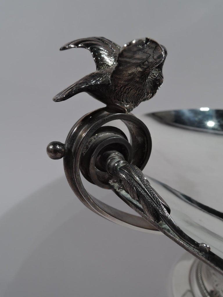 American Tiffany New York Aesthetic Classical Sterling Silver Bird Bath Compote For Sale
