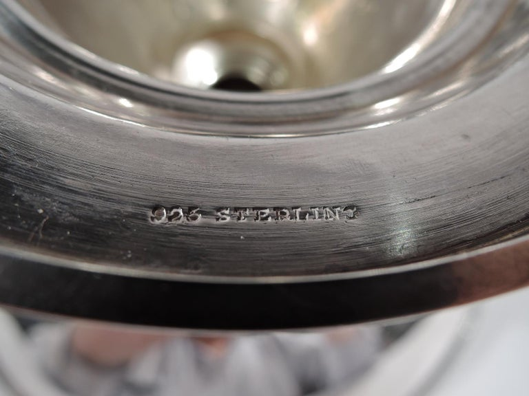 Tiffany New York Aesthetic Classical Sterling Silver Bird Bath Compote For Sale 3