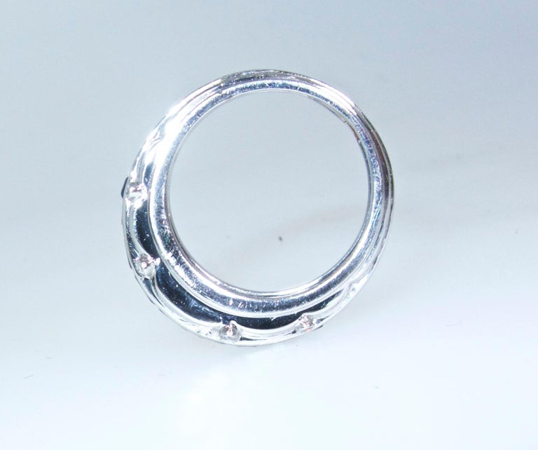 Tiffany & Co. Sapphire and Diamond Art Deco Band Ring, circa 1930 For Sale 1