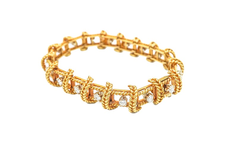 Tiffany Schlumberger 18K Gold and Diamond Bracelet