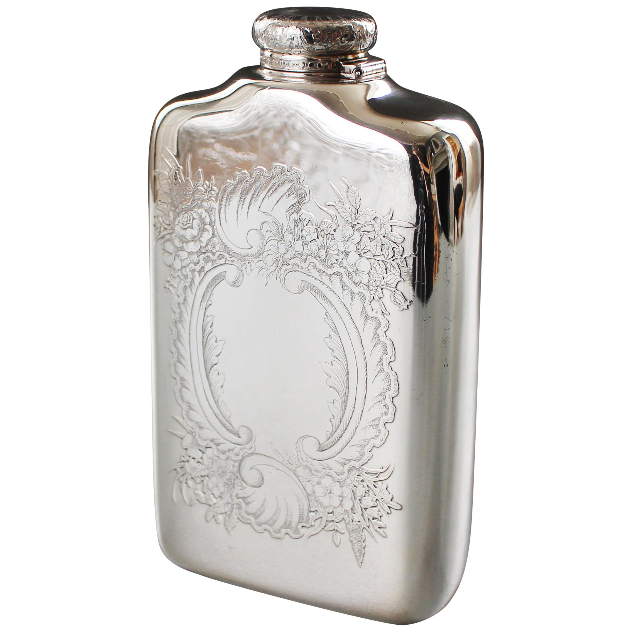 Tiffany Silver Spirit Flask