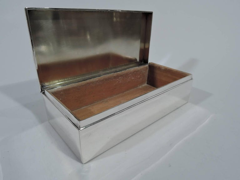 American Tiffany Smart and Modern Sterling Silver Desk Box For Sale