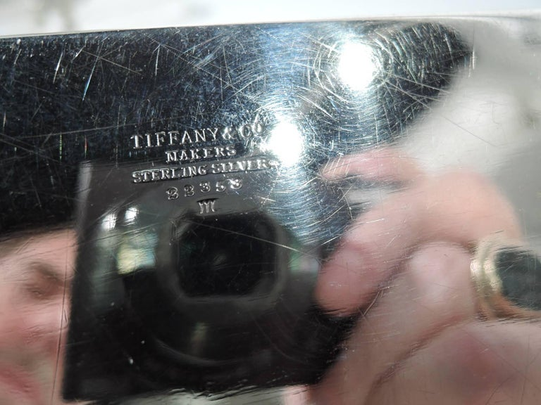 Tiffany Smart and Modern Sterling Silver Desk Box In Excellent Condition For Sale In New York, NY