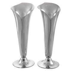 Tiffany Sterling Midcentury Vases