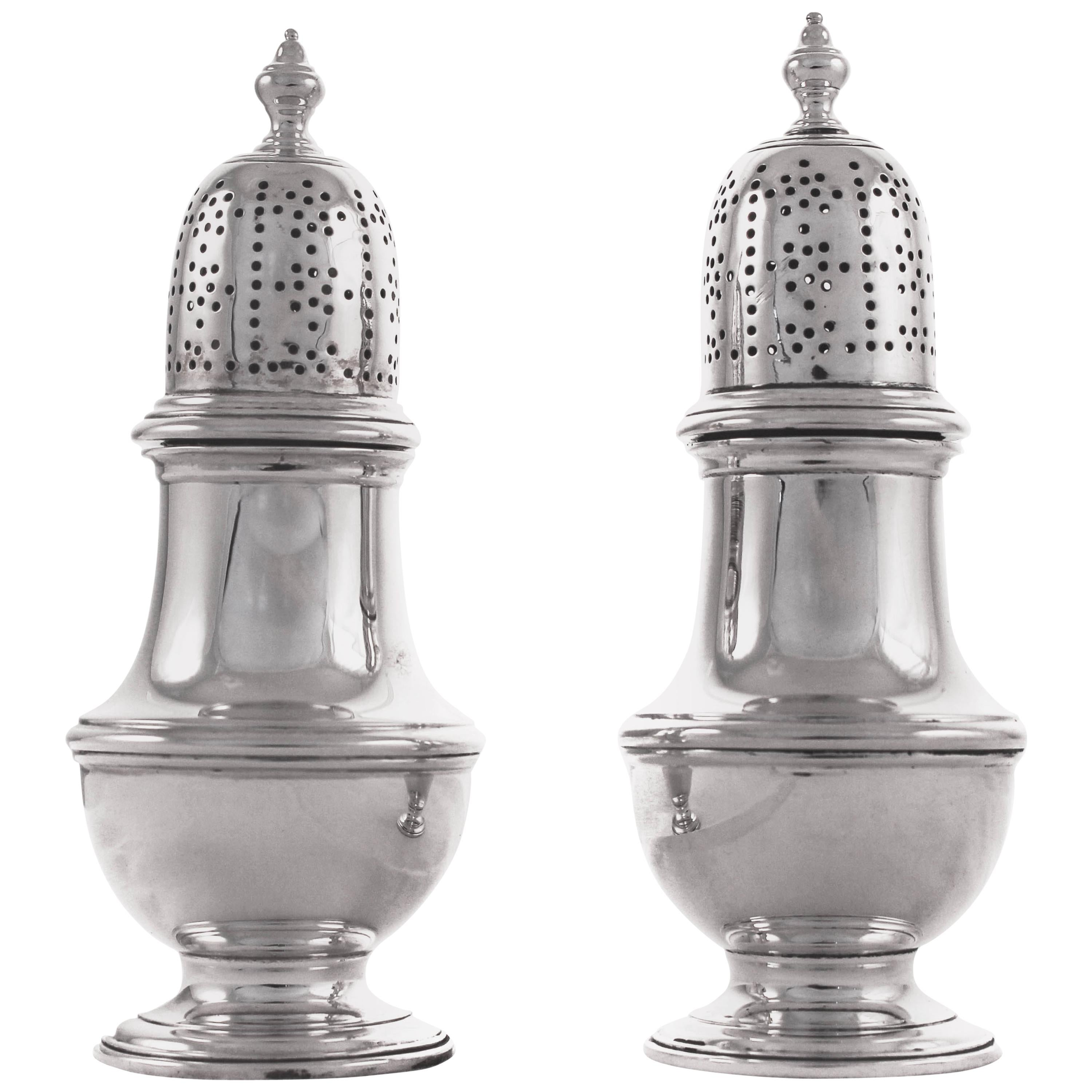 Tiffany Co Salt Pepper And E Sterling Silver Shakers