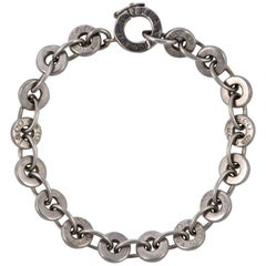 Tiffany Sterling Silver 1837 Circle Chain Link Bracelet