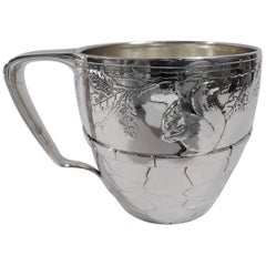 Tiffany Sterling Silver Baby Cup with Thrifty Acorn-Nibbling Squirrel