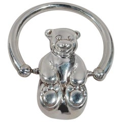 Tiffany Sterling Silver Fat-Pawed Chub Cub Teddy Bear Rattle
