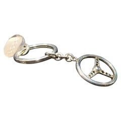 Tiffany Sterling Silver Key Ring, Steering Wheel.  Tiffany Box.  Two Available.