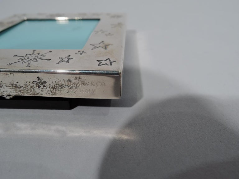 Italian Tiffany Sterling Silver Winter Wonderland Snowflake Picture Frame
