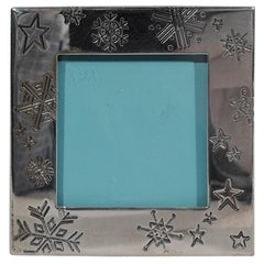 Tiffany Sterling Silver Winter Wonderland Snowflake Picture Frame