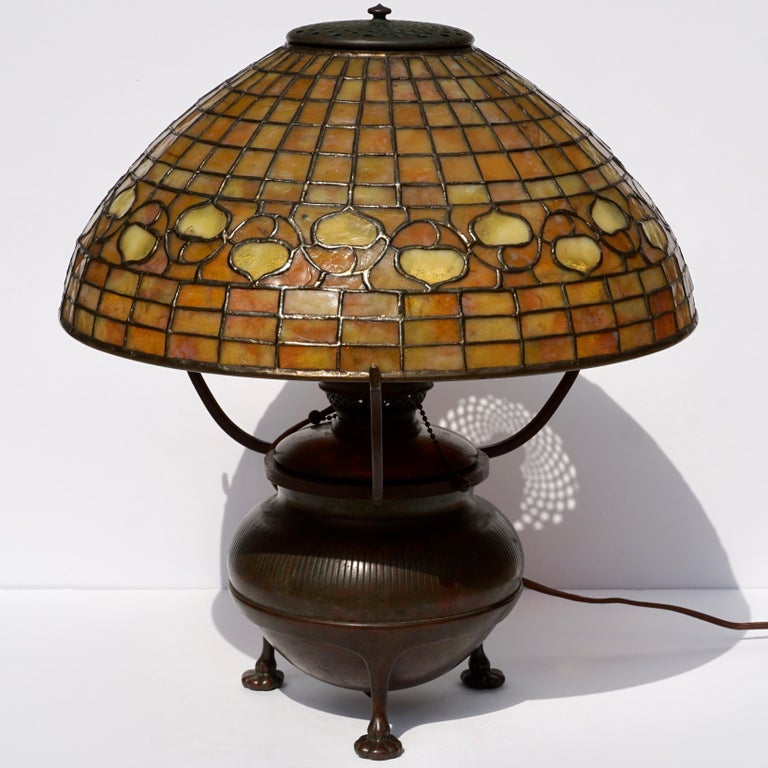 American Tiffany Studios Acorn Table Lamp