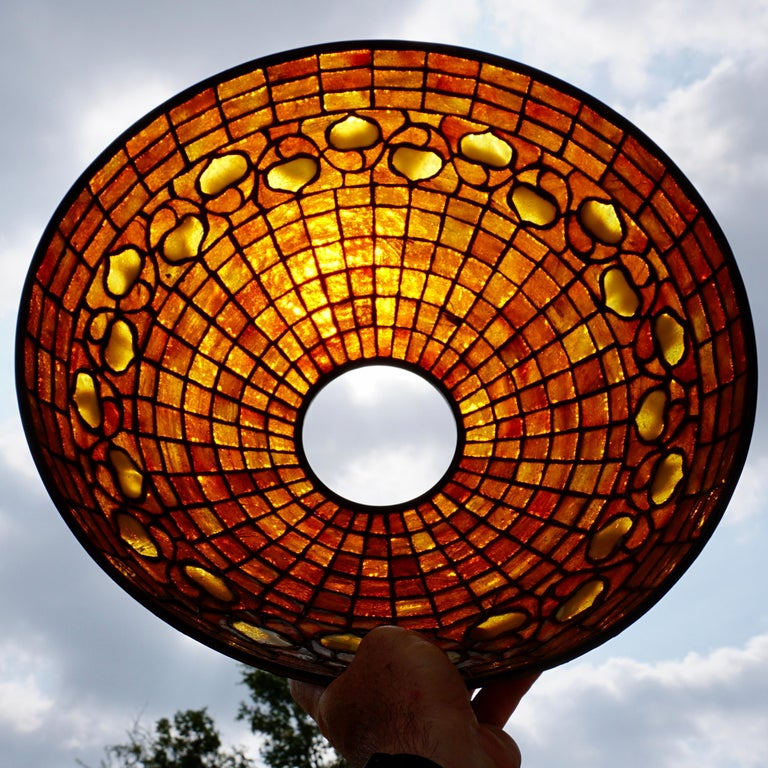 Early 20th Century Tiffany Studios Acorn Table Lamp