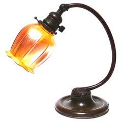 Tiffany Studios Bronze And Favrile Desk Lamp
