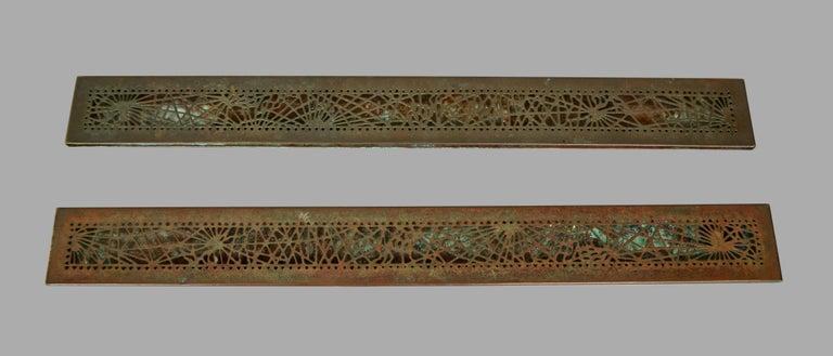 Tiffany Studios Bronze and Glass Pine Needle Pattern 6 Piece Desk Set For Sale 9