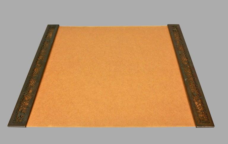 Tiffany Studios Bronze and Glass Pine Needle Pattern 6 Piece Desk Set For Sale 10
