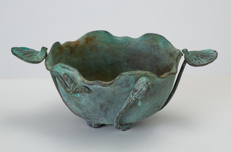 20th Century Tiffany Studios Bronze Bowl with Verdigris Finish For Sale