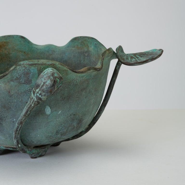 Tiffany Studios Bronze Bowl with Verdigris Finish For Sale 2