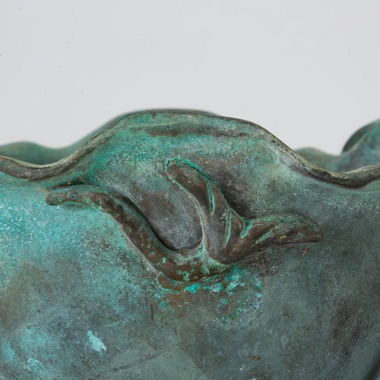 Tiffany Studios Bronze Bowl with Verdigris Finish For Sale 3