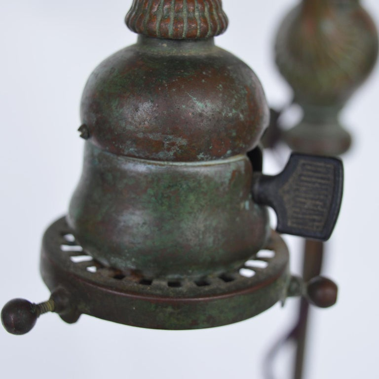 Early 20th Century Tiffany Studios & Co Bronze and Glass Shade  For Sale