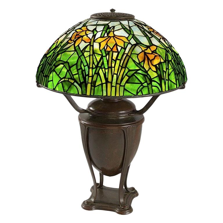 "Tiffany Studios ""Daffodil"" Table Lamp For Sale"