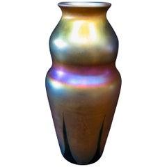 Tiffany Studios Decorated Gold Vase