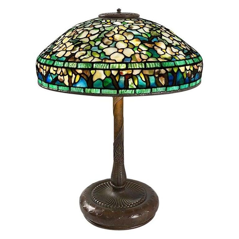"Tiffany Studios ""Dogwood"" Table Lamp For Sale"