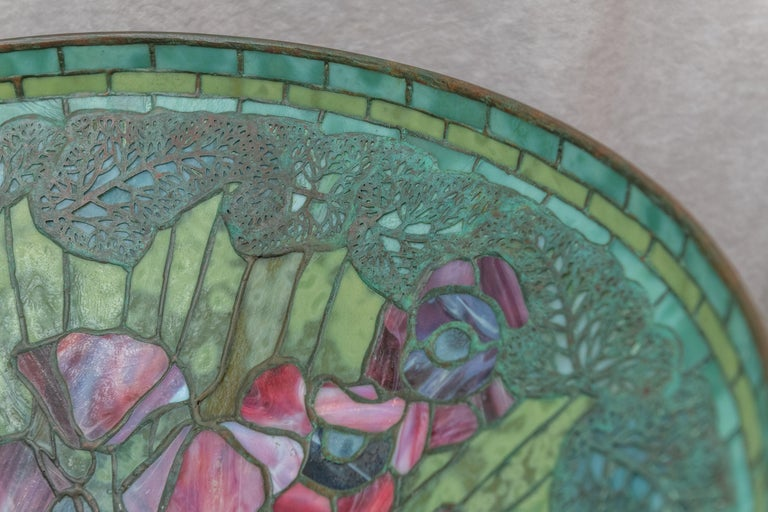 Tiffany Studios Filagree Poppy Table Lamp In Excellent Condition For Sale In San Francisco, CA