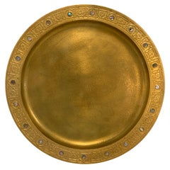 Tiffany Studios Gilt Bronze Abalone Charger