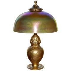 Tiffany Studios Gilt Bronze and Favrile Table Lamp