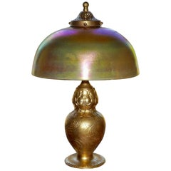 Tiffany Studios Gilt Bronze and Favrile Table Lamp