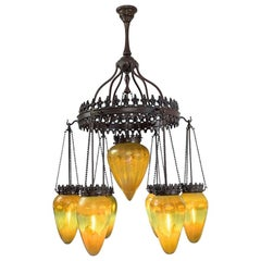 Tiffany Studios Golden Stalactite Chandelier