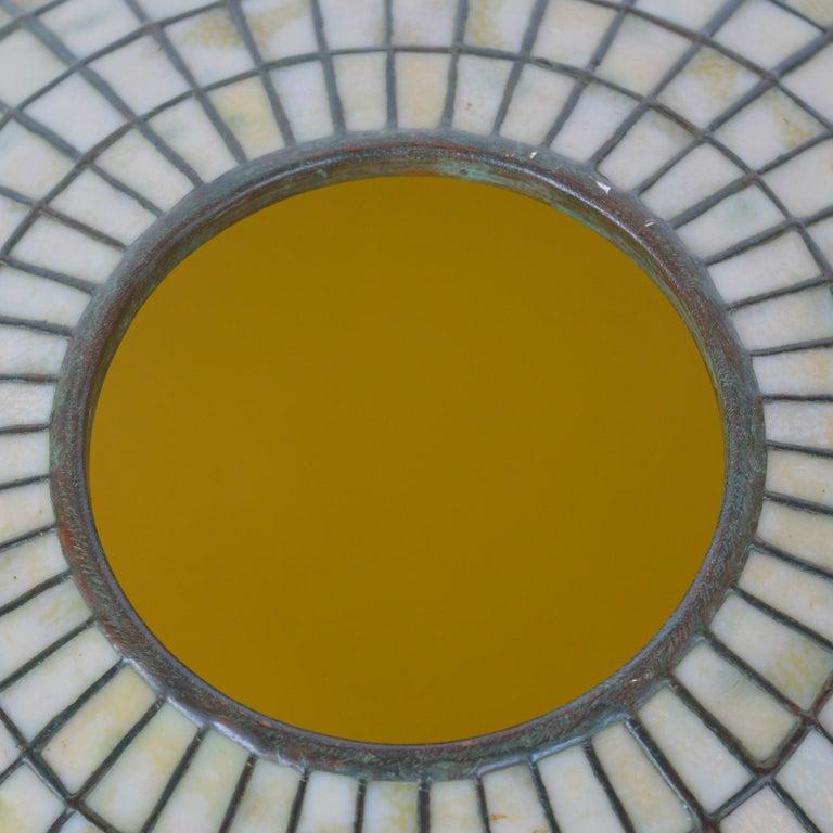 Bronze Tiffany Studios Lemon Leaf Table Lamp For Sale