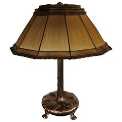 Tiffany Studios Linenfold 'Fabrique' Table Lamp