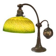 "Tiffany Studios New York ""Counterbalance Damascene"" Desk Lamp"