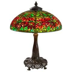 "Tiffany Studios New York ""Double Poinsettia"" Table Lamp"