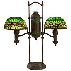 "Tiffany Studios New York ""Double Student Vine Border"" Table Lamp"