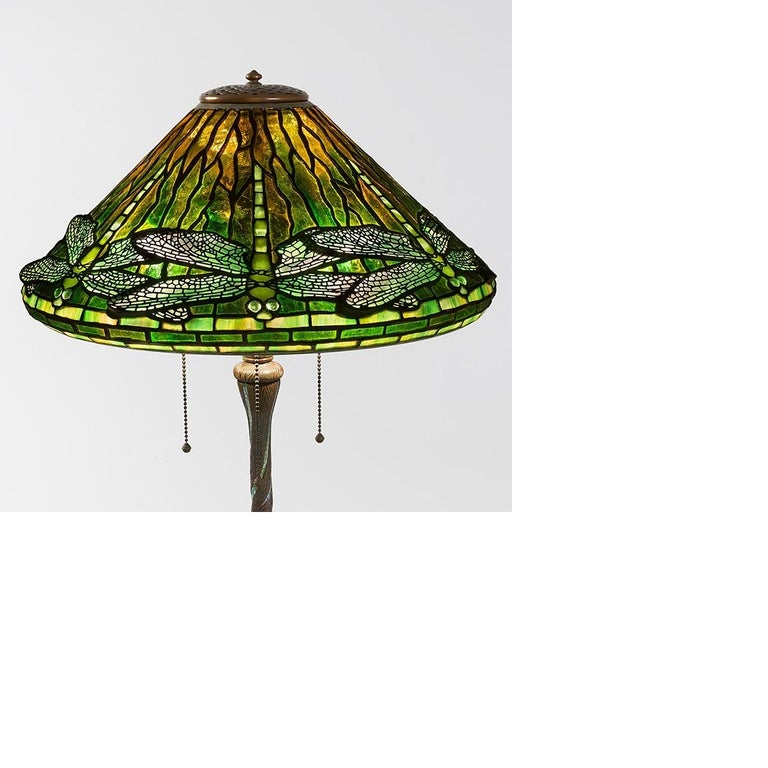 A Tiffany Studios New York leaded glass and patinated bronze