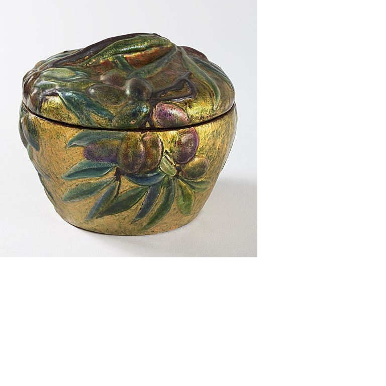 This Tiffany Studios New York covered box by Louis Comfort Tiffany, covered with an enamel