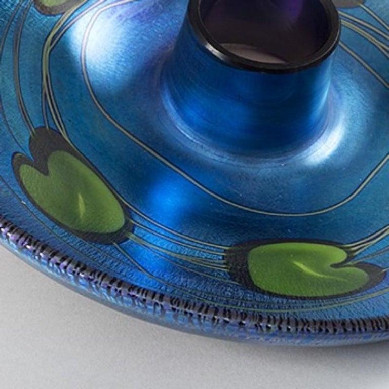 American Tiffany Studios New York Favrile Glass Centrepiece For Sale