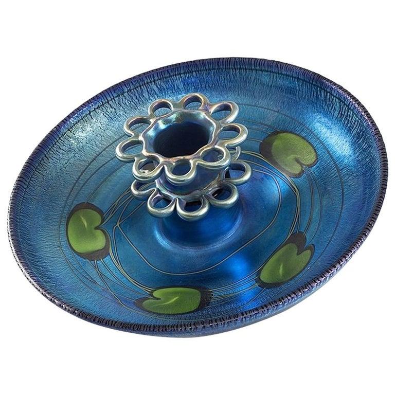 Tiffany Studios New York Favrile Glass Centrepiece For Sale