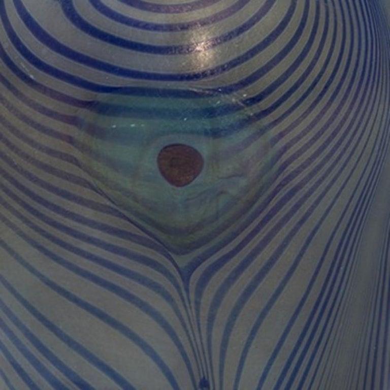 Art Nouveau Tiffany Studios New York, Glass Peacock Vase For Sale