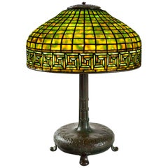 "Tiffany Studios New York ""Greek Key"" Table Lamp"