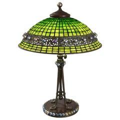 "Tiffany Studios New York ""Jeweled Geometric"" Table Lamp"