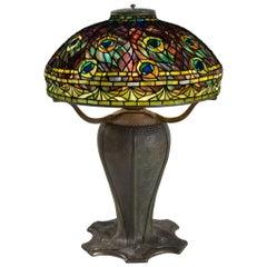 "Tiffany Studios New York ""Peacock"" Table Lamp"