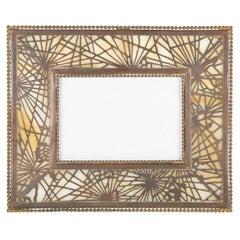 Tiffany Studios New York Signed Bronze Calendar Picture Frame