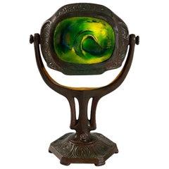 """Tiffany Studios New York """"Zodiac Turtleback"""" Desk Lamp"""