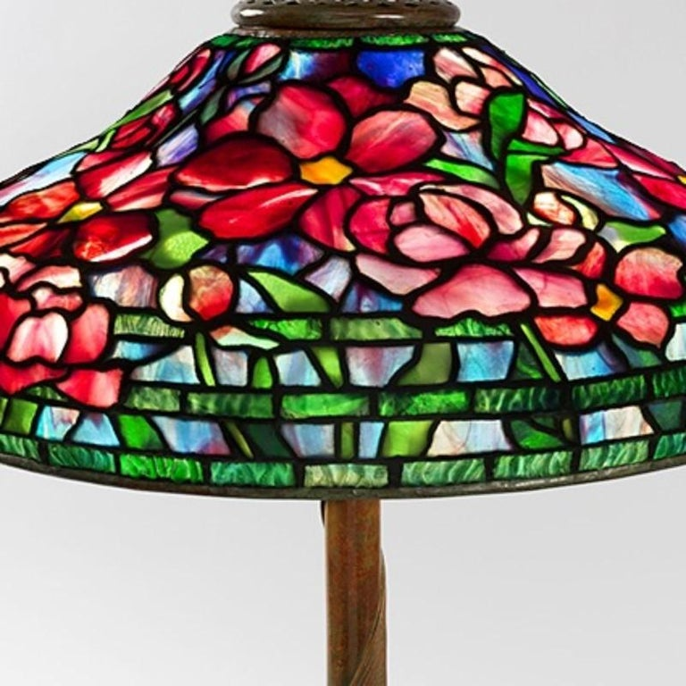 Tiffany Studios Quot Peony Quot Table Lamp For Sale At 1stdibs